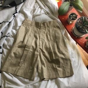 Vintage High Waisted Tweed Shorts